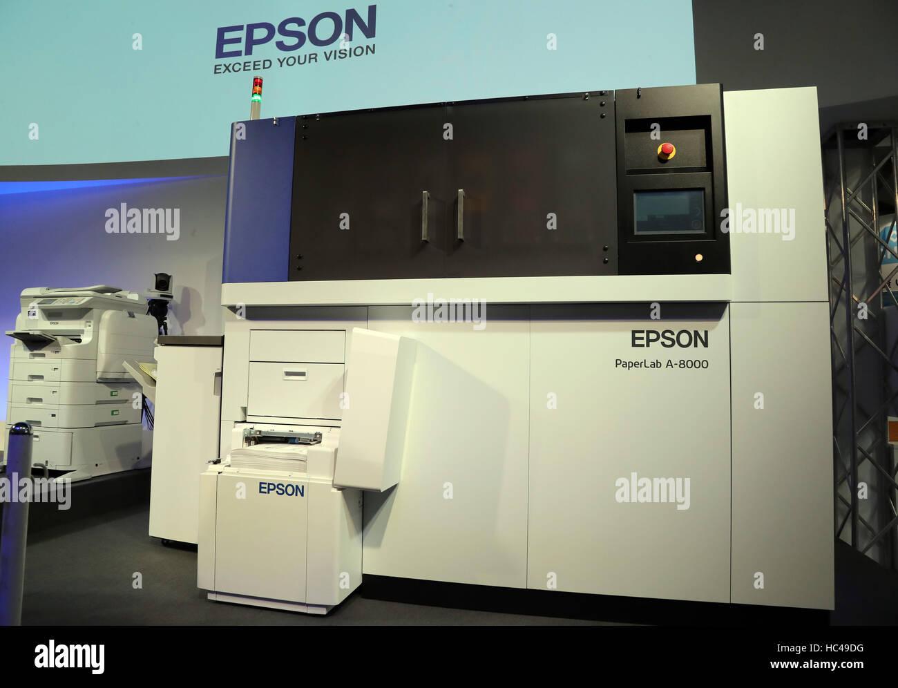 Tokyo, Japan  8th Dec, 2016  Japanese printer giant Epson
