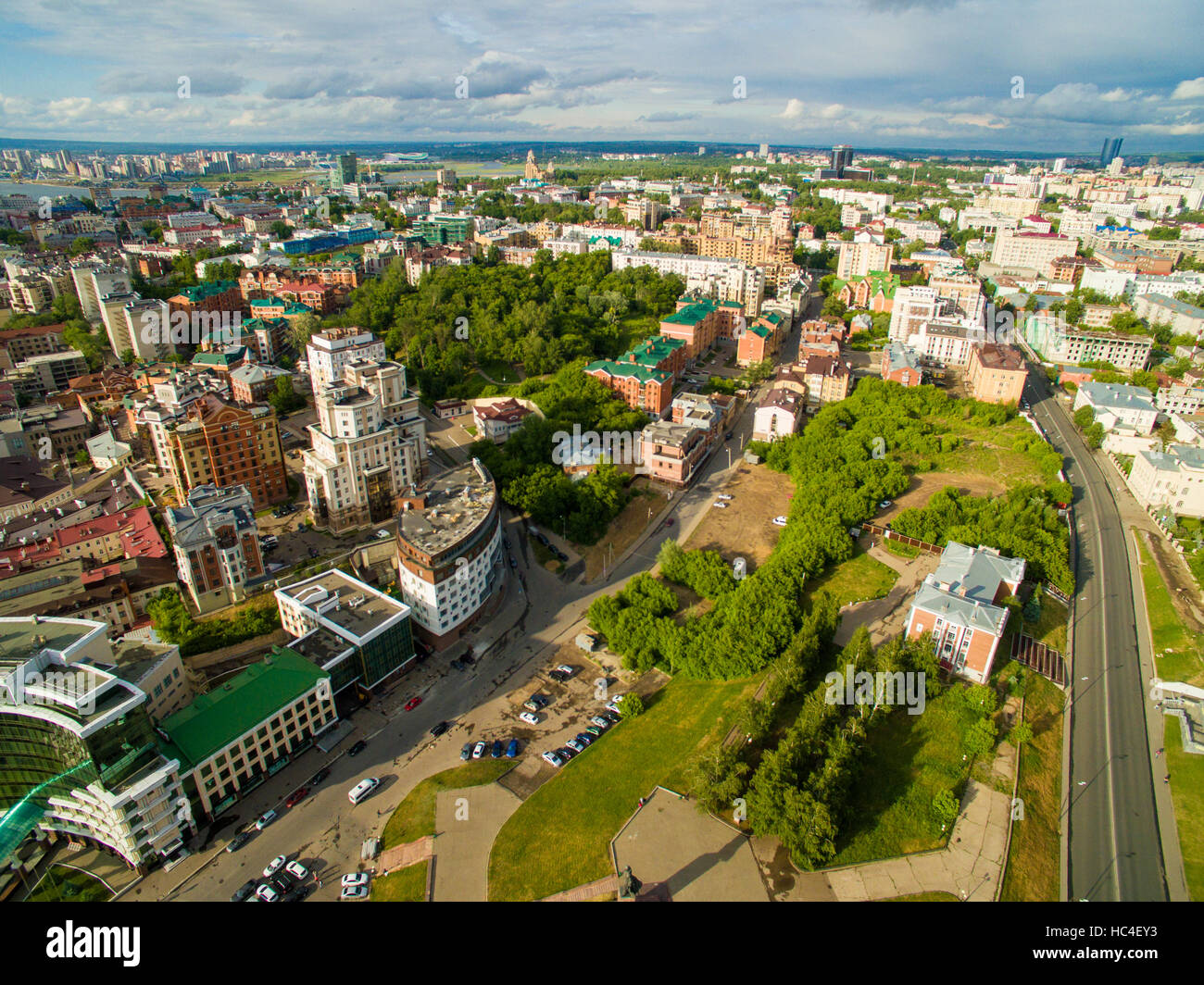 Kazan Aerial View Center Of City At Grand Hotel Stock Photo Alamy