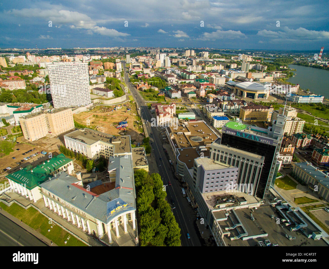 Kazan Aerial View Center City High Resolution Stock Photography And Images Alamy