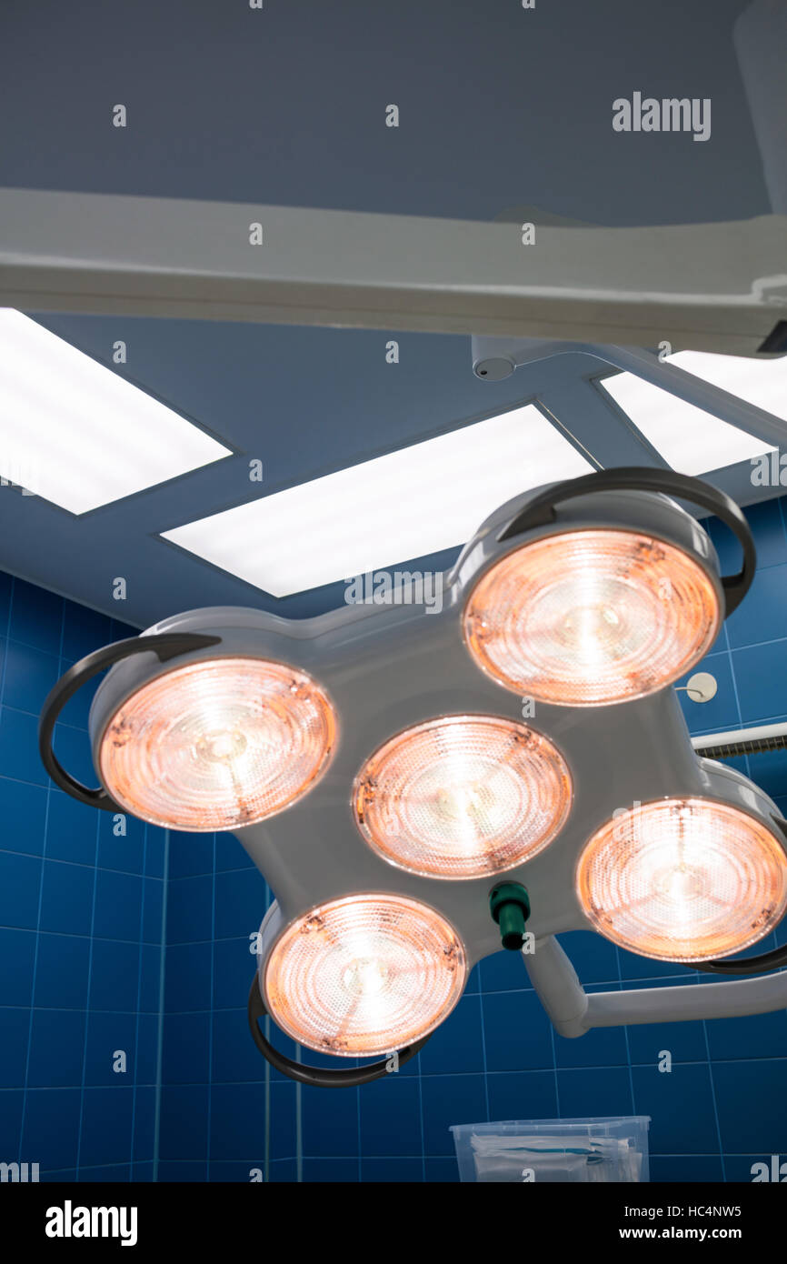 Surgical light in operation room - Stock Image