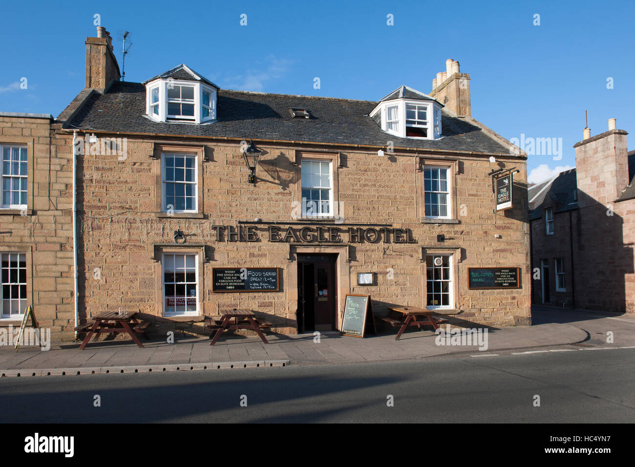 The Eagle Hotel, Castle Street, Dornoch, Sutherland, Scotland, UK. - Stock Image