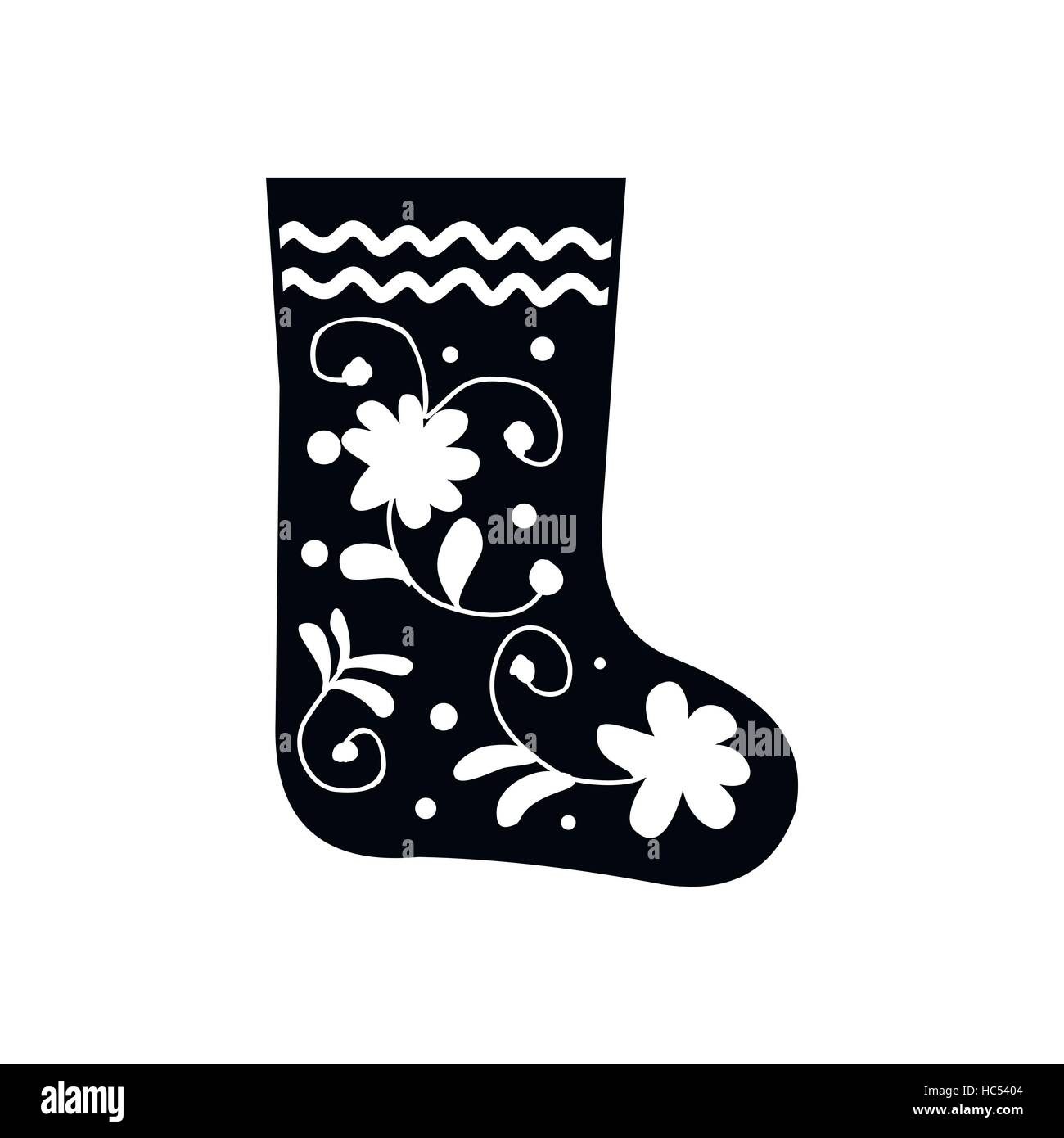 Russian traditional winter felt boots icon - Stock Vector