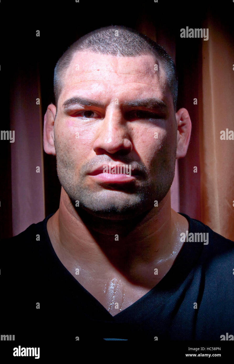UFC fighter Cain Velasquez in Los Angeles, California on October 21, 2009. Francis Specker - Stock Image