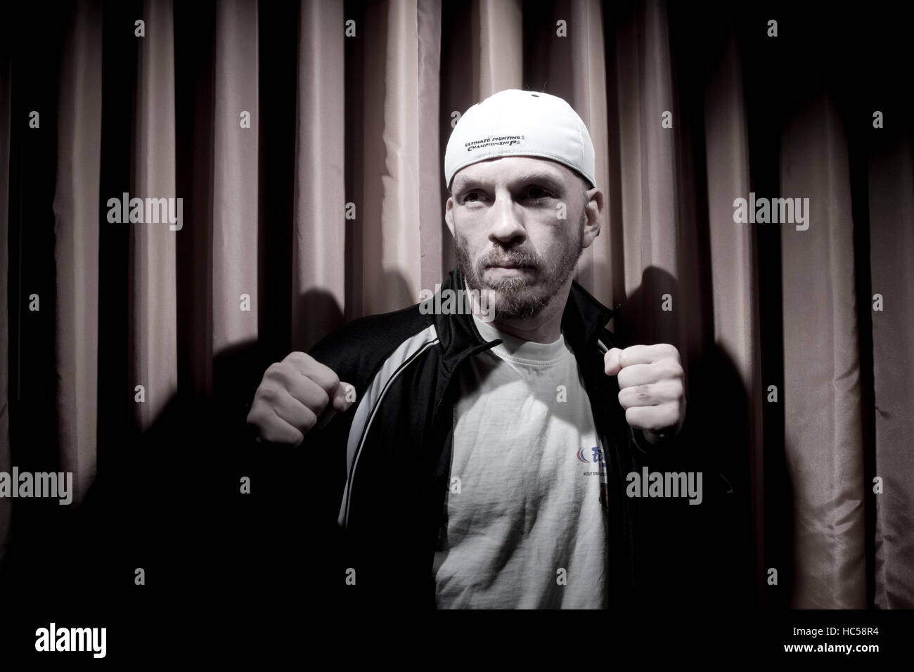 UFC fighter Spencer Fisher in Los Angeles, California on October 21, 2009. Francis Specker - Stock Image