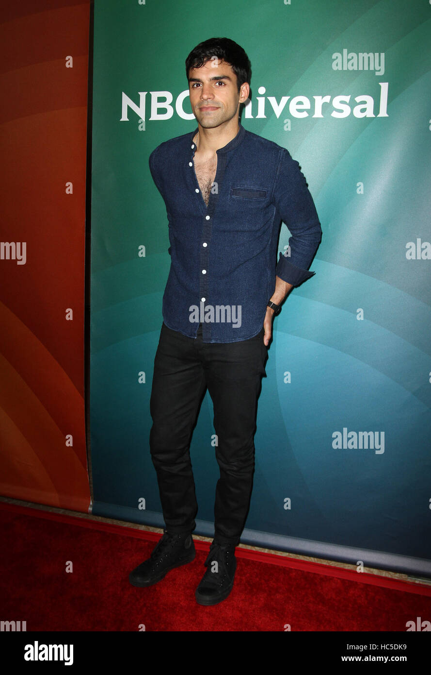 NBCUniversal's Summer Press Tour - Day 2 held at the Beverly Hilton Hotel  Featuring: Sean Teale Where: Los Angeles, - Stock Image