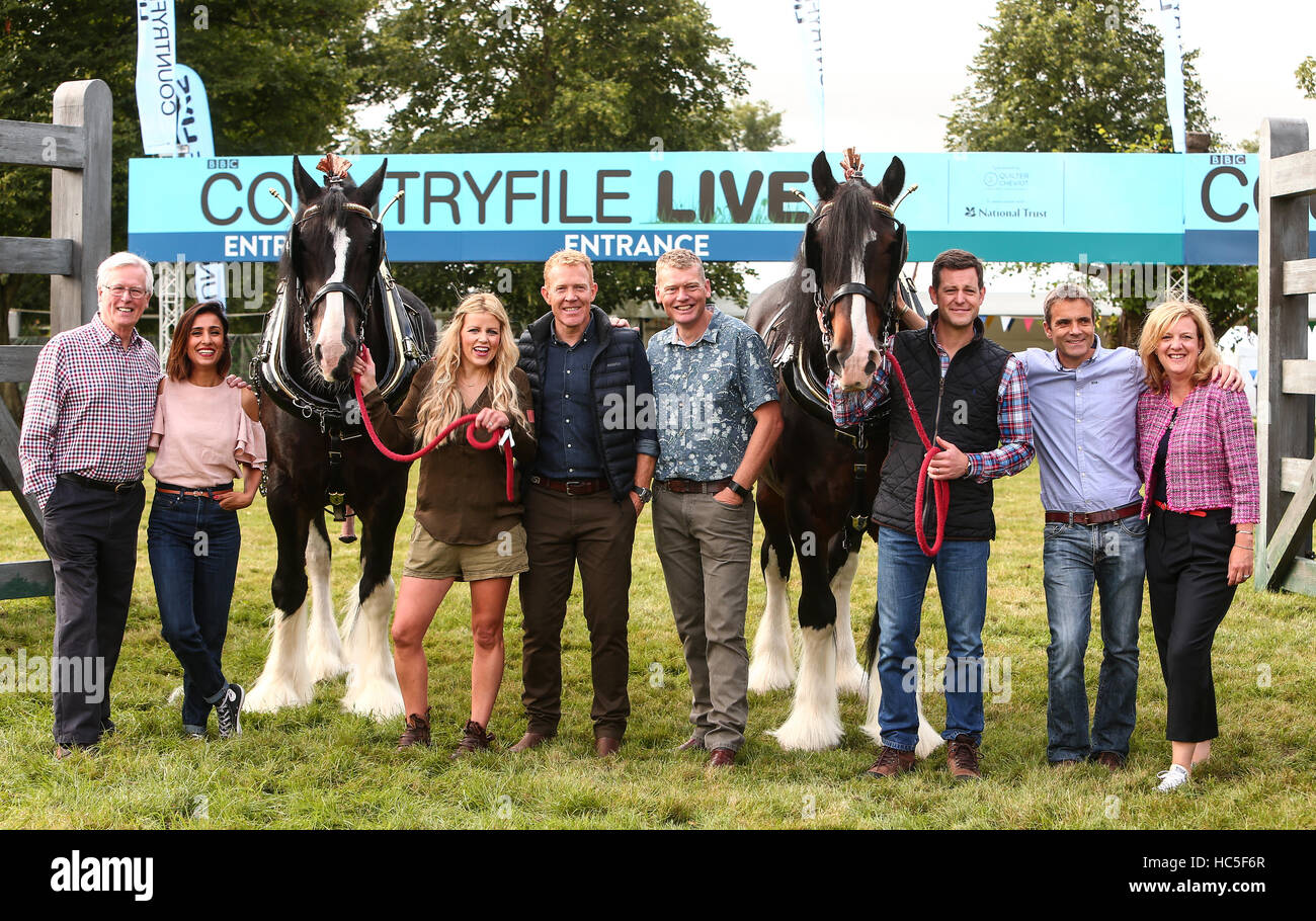 Countryfile presenters attend a photocall during Countryfile Live at Blenheim Palace  Featuring: Matt Baker, Ellie - Stock Image