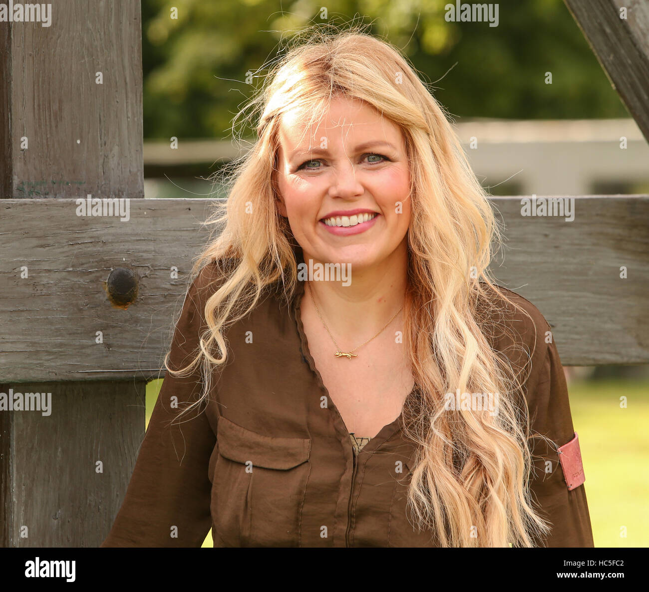 Countryfile presenters attend a photocall during Countryfile Live at Blenheim Palace  Featuring: Ellie Harrison - Stock Image