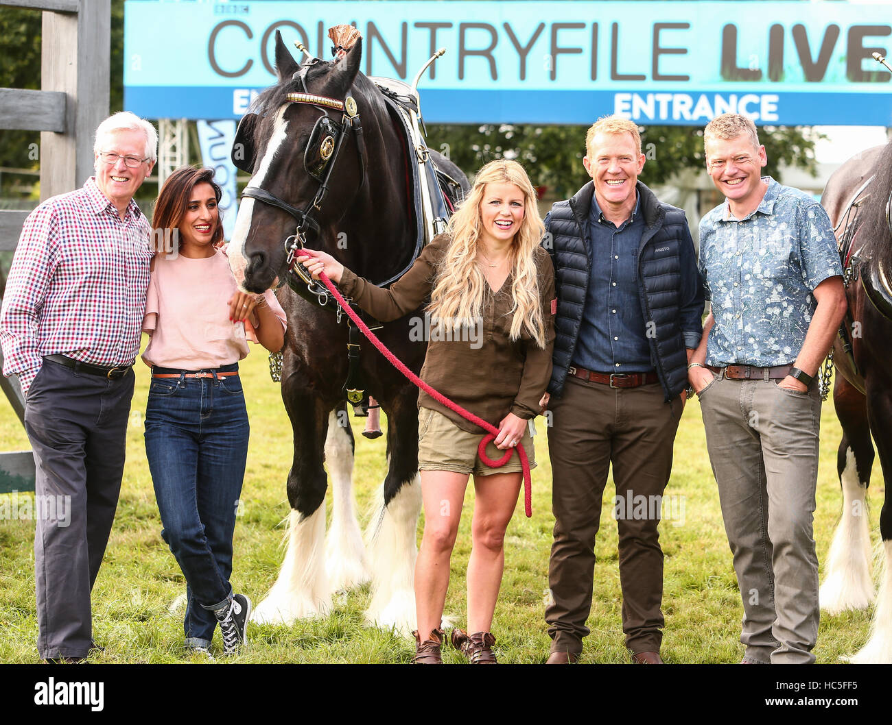 Countryfile presenters attend a photocall during Countryfile Live at Blenheim Palace  Featuring: John Craven, Anita - Stock Image