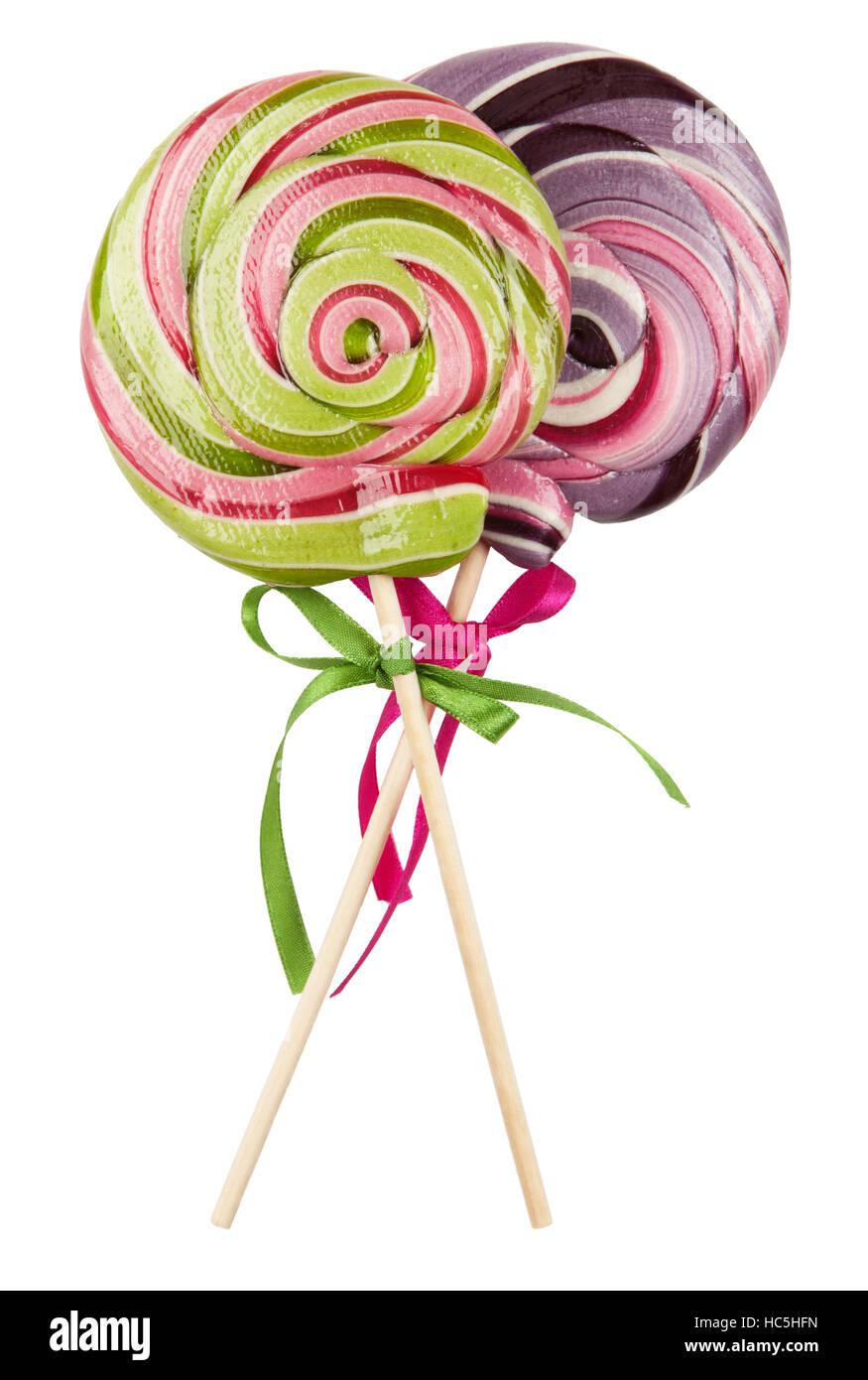 Lollipop on white - Stock Image