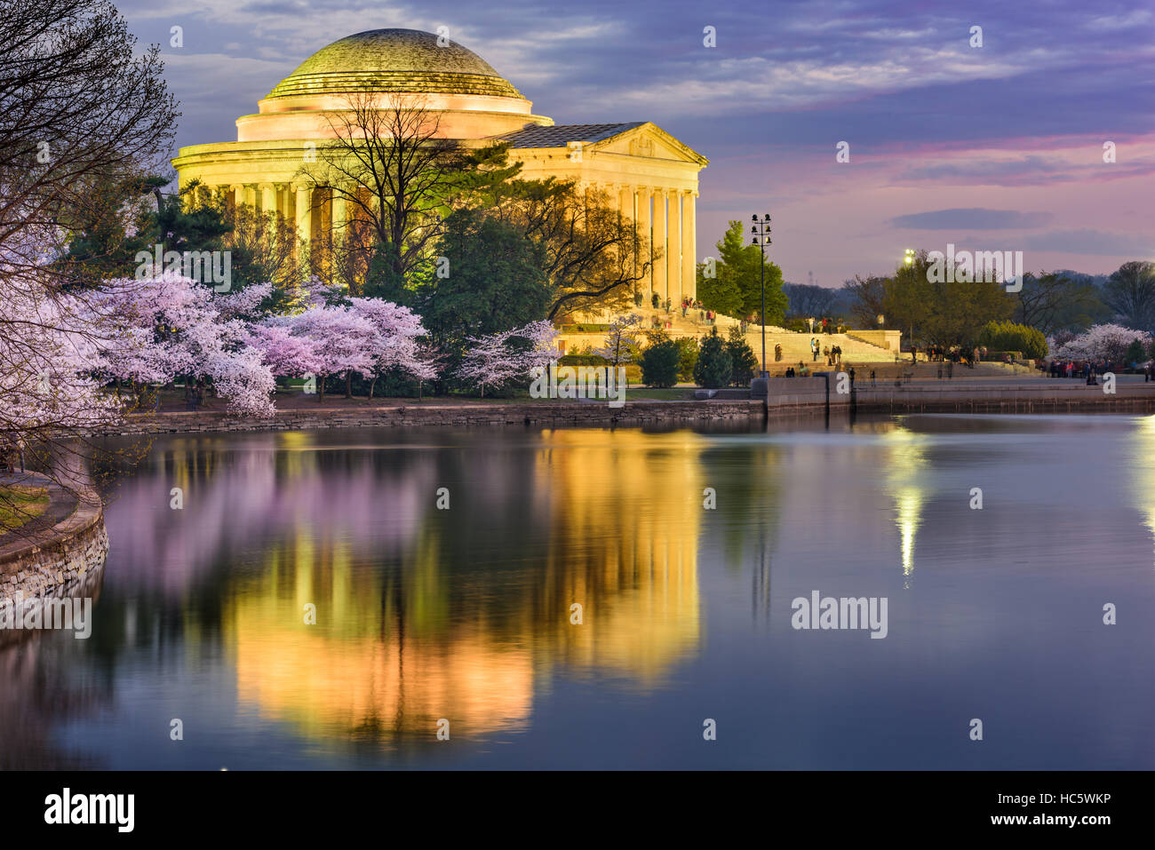 Washington, DC at the Jefferson Memorial during spring. - Stock Image