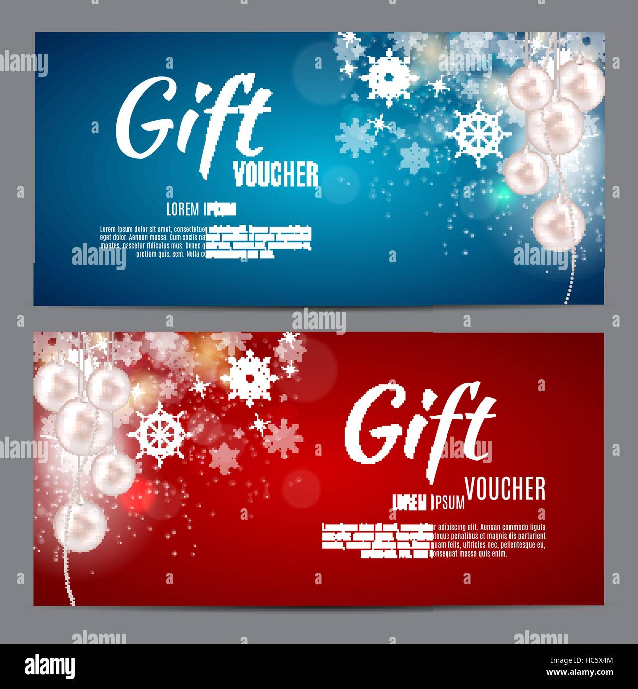 christmas and new year gift voucher discount coupon template ve