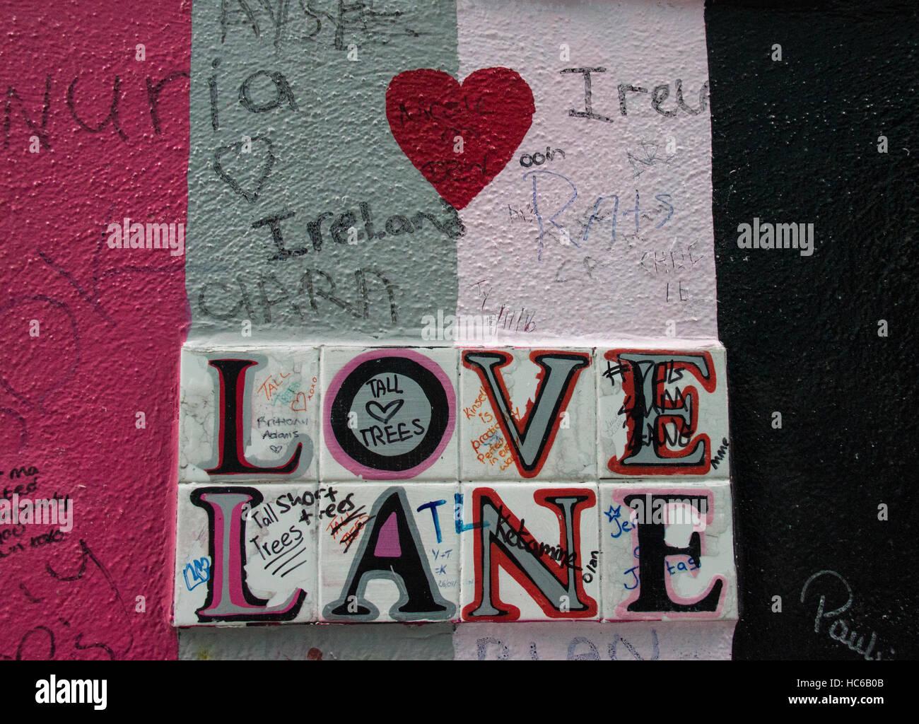 Love Lane Dublin - Stock Image
