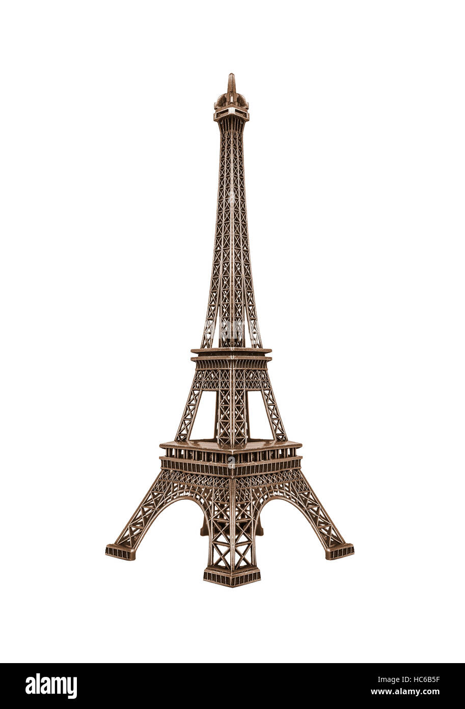 Eiffel tower isolated. - Stock Image