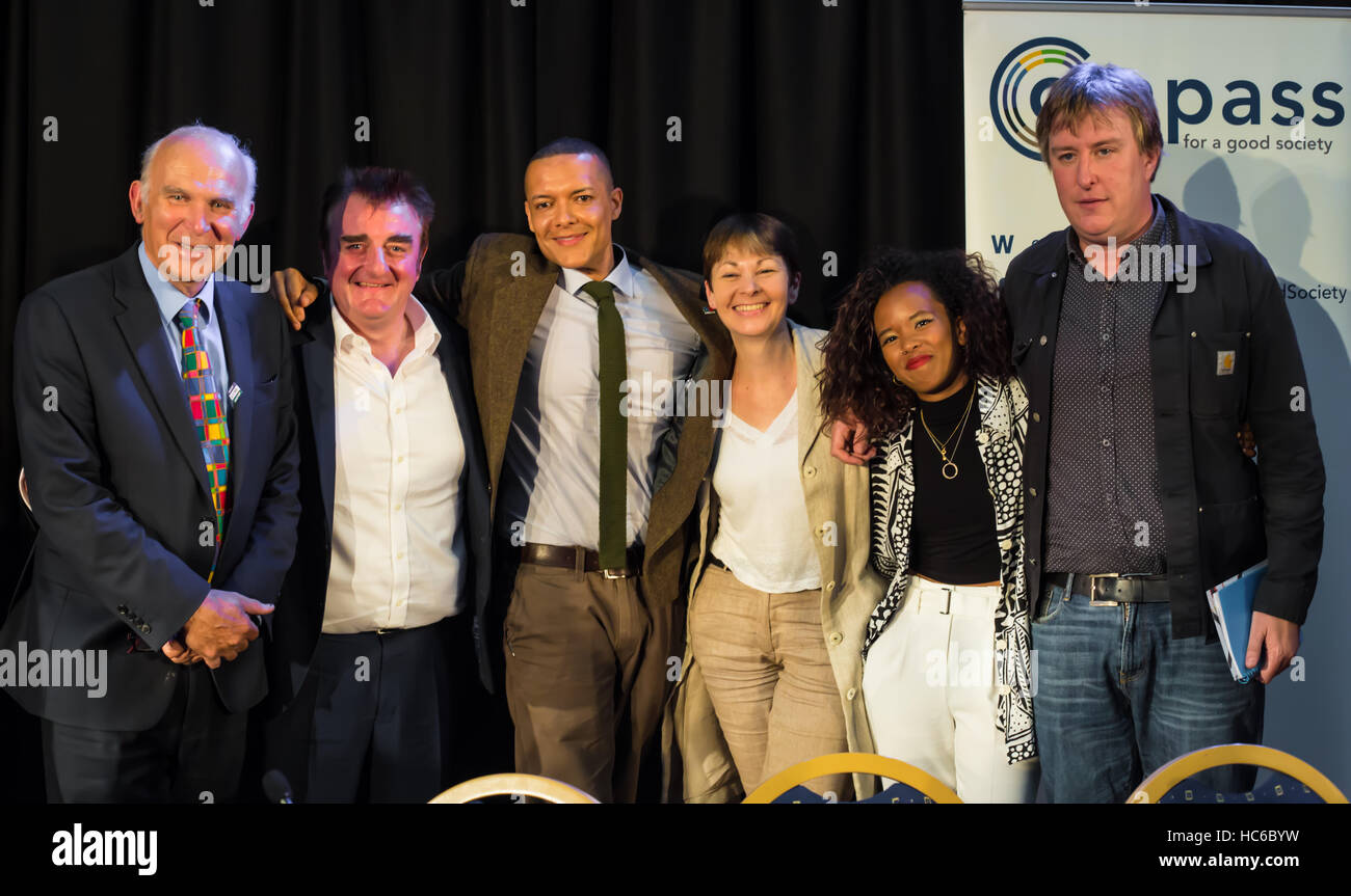Group photo after Compass's Progressive Alliance meeting in London - Stock Image