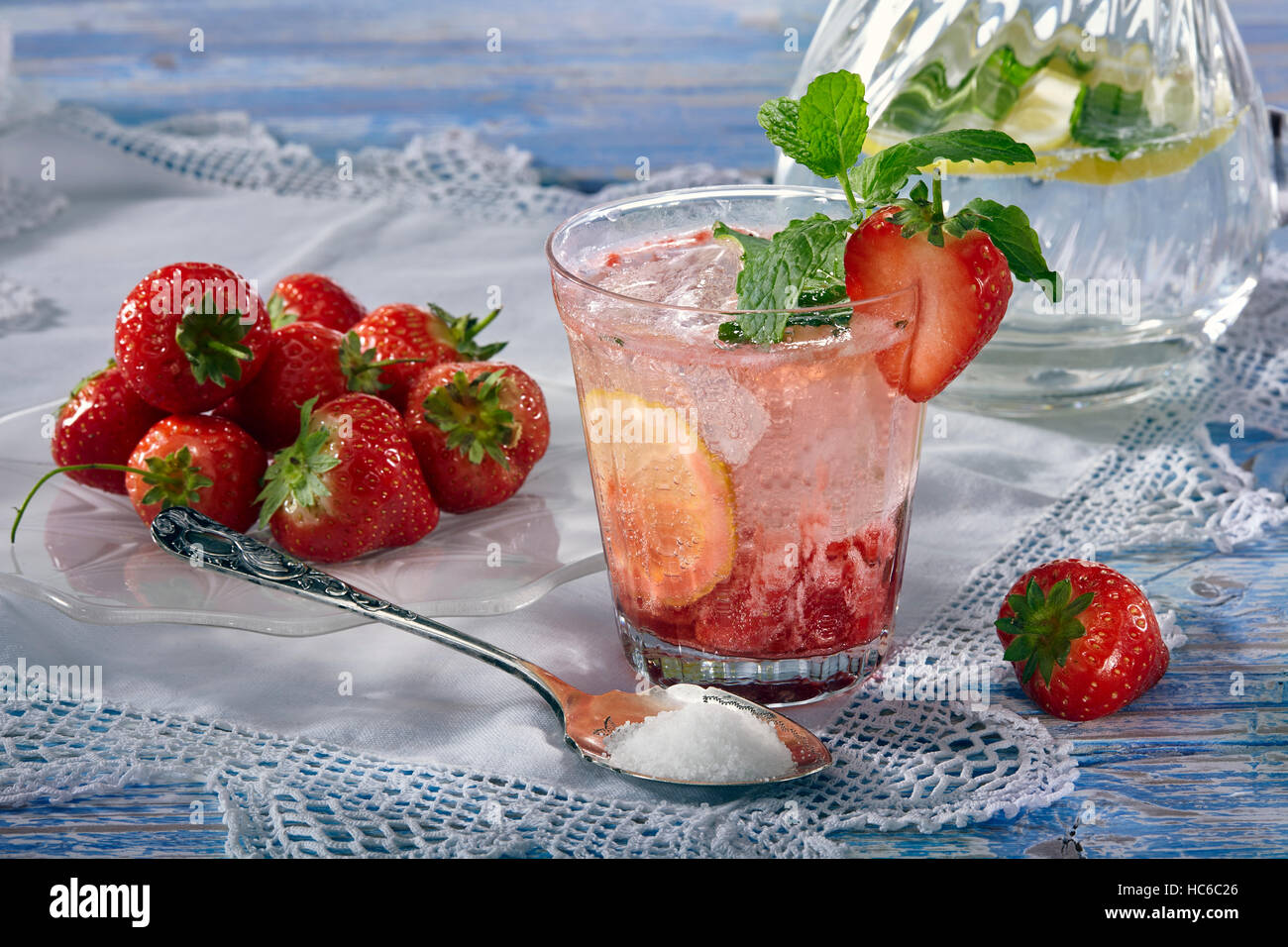 Summer in a glass - Stock Image
