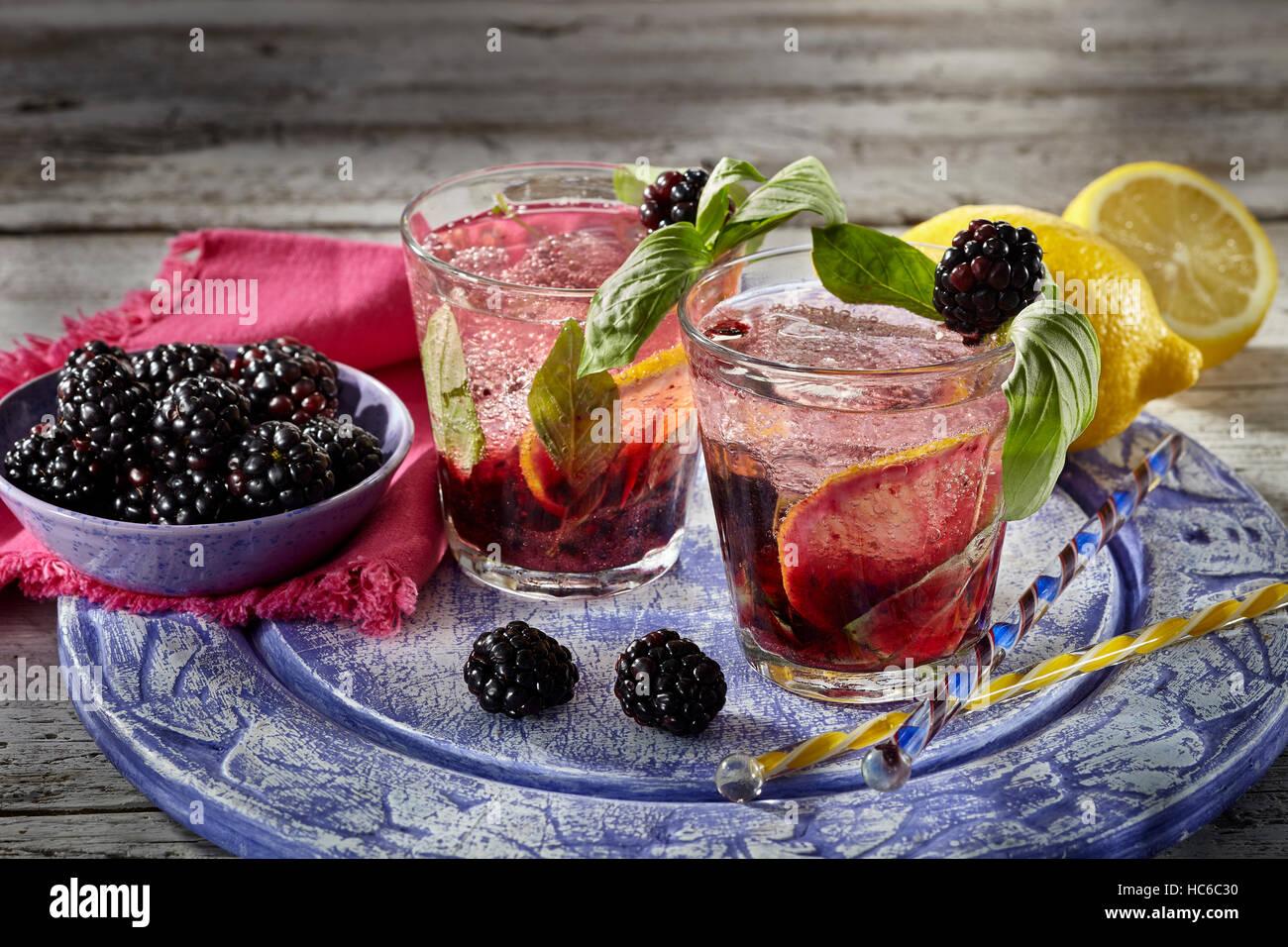 Blackberry surprise - Stock Image