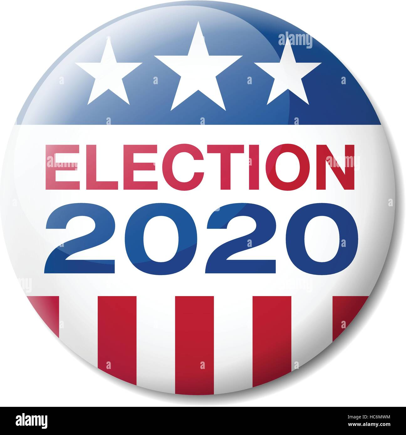 Badge USA Election 2020 Stock Vector
