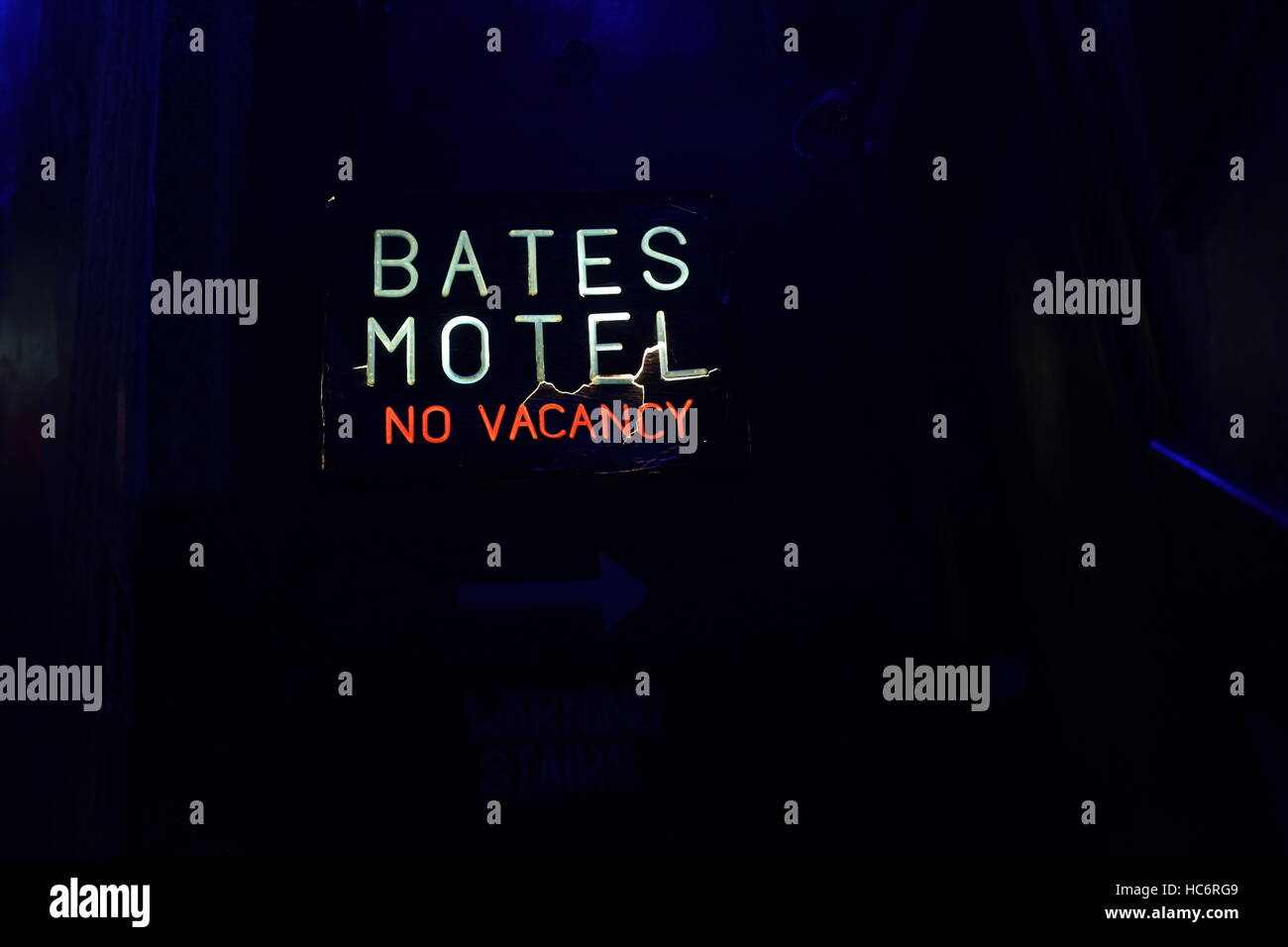 The Bates Motel from the film 'Psycho' at the Terror Tower