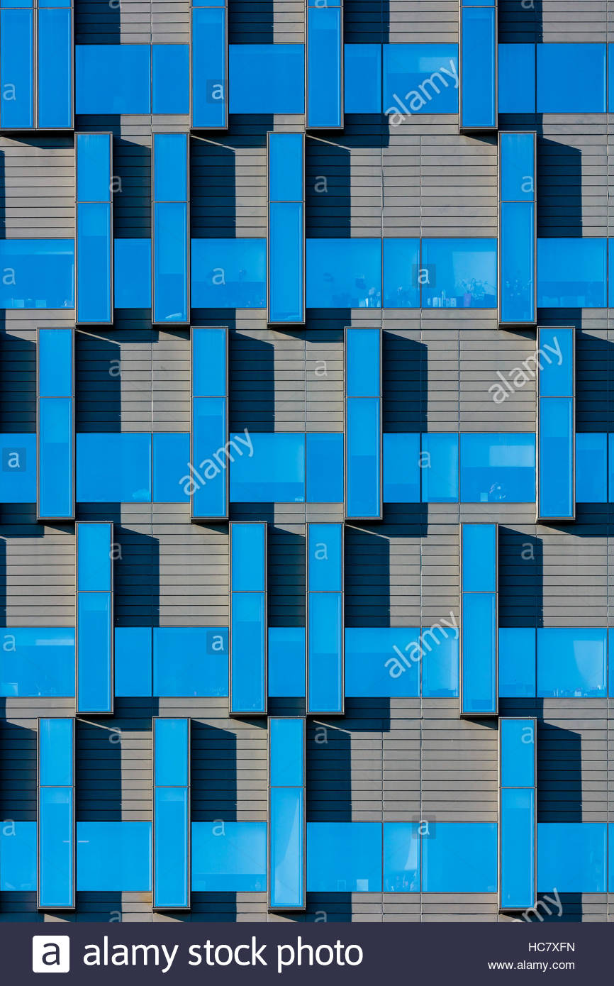Windows curtainwall fenestration pattern graphic at Sinai Health System Bridgepoint hospital in Toronto Ontario - Stock Image