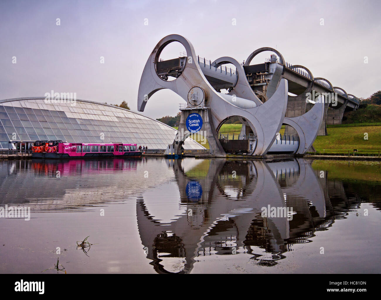 The Falkirk Wheel in motion - Stock Image