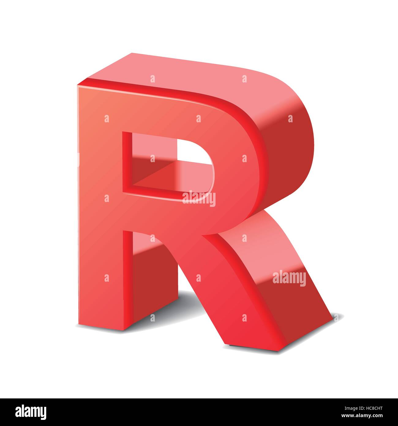 3d red letter r isolated on white background stock vector art 3d red letter r isolated on white background thecheapjerseys Image collections