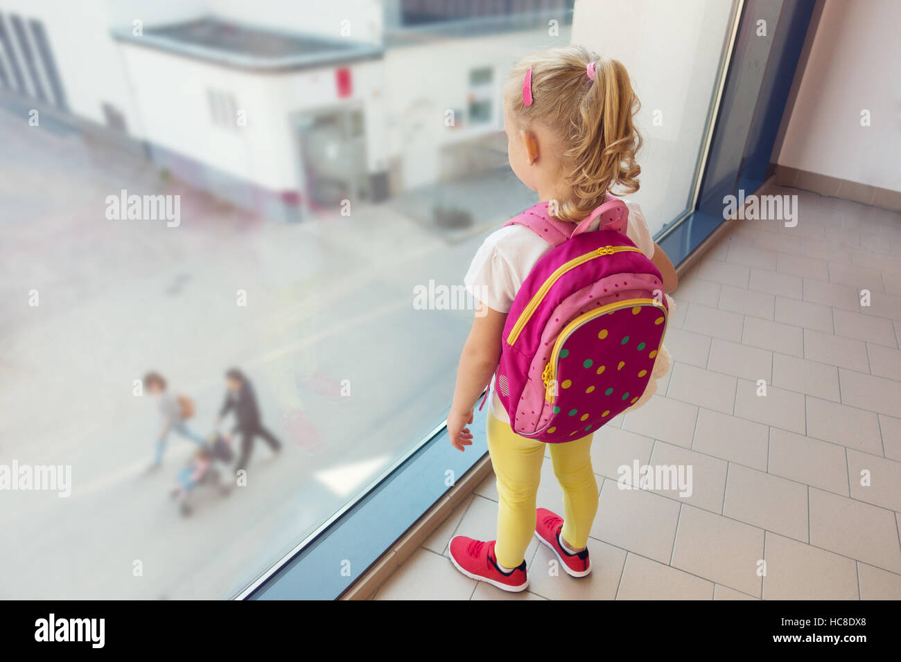 Lonely Child Waiting Someone Stock Photos Lonely Child Waiting