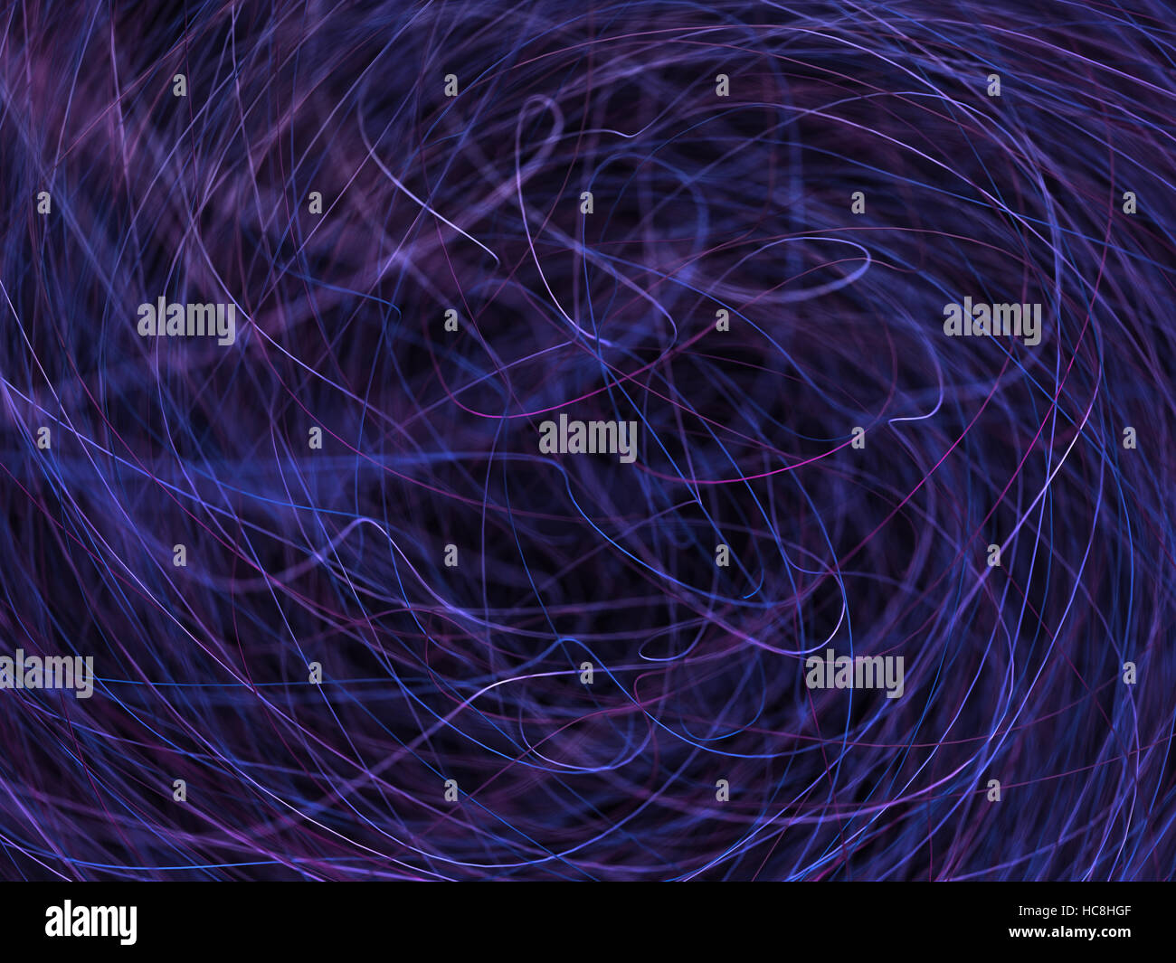 3D illustration abstract background. Tangle of colored lines. - Stock Image