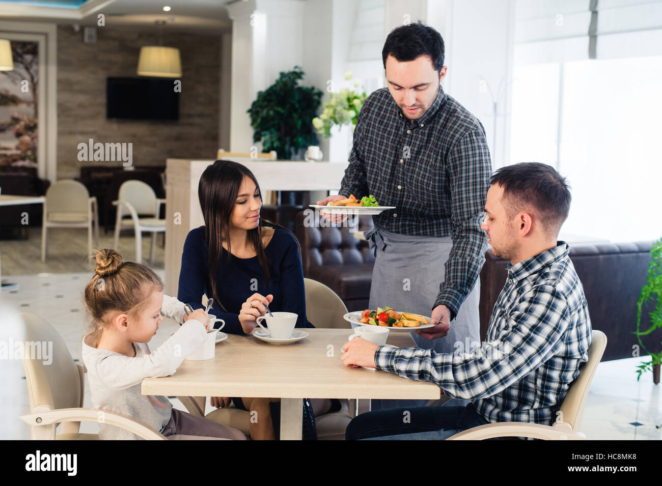 waiter serving food restaurant stock photos waiter serving food