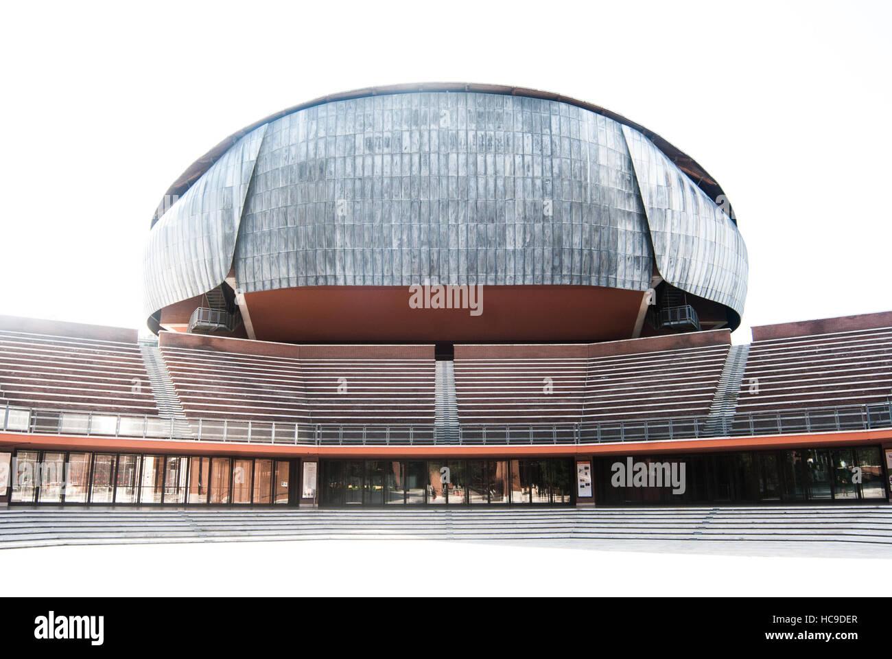 Auditorium Parco della Musica, designed by Italian architect Renzo Piano, Rome, Italy Stock Photo