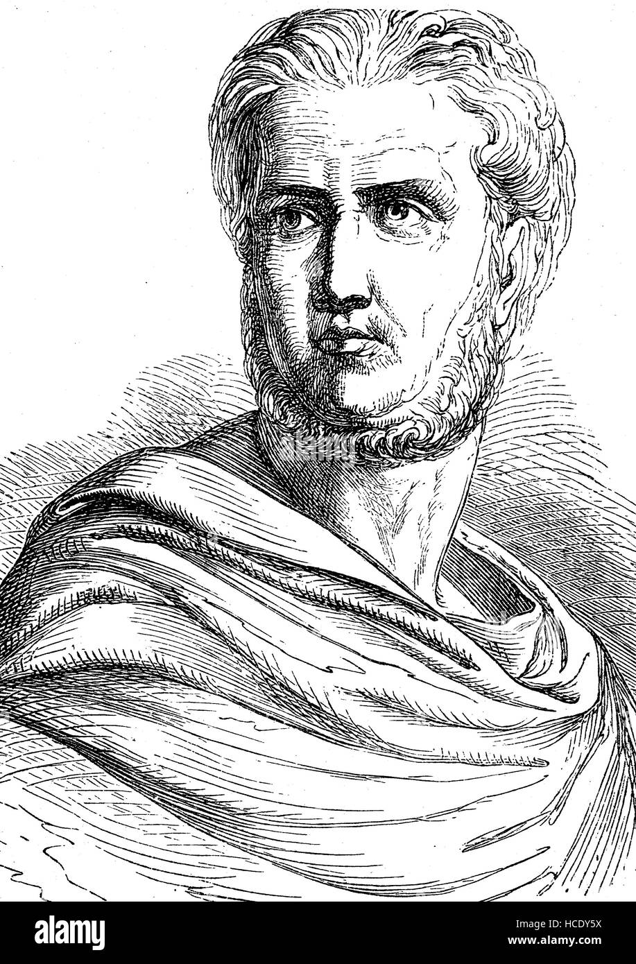 Publius, Gaius Cornelius Tacitus, AD 56 - AD 120, senator and a historian of the Roman Empire, the story of the - Stock Image