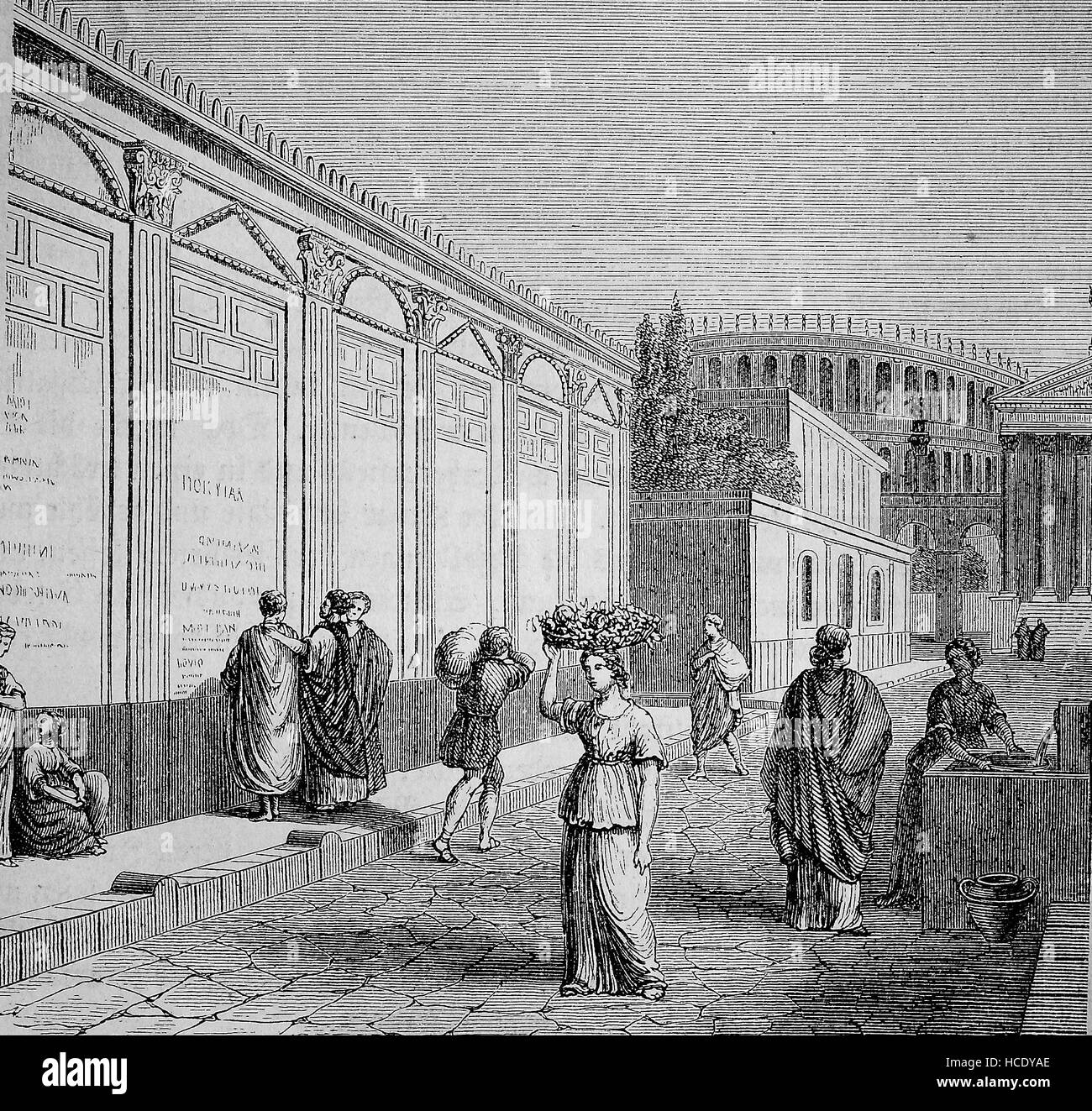 the Album of Pompeji, Pompey, Album, a place where public announcements and commercial advertisements took place, - Stock Image