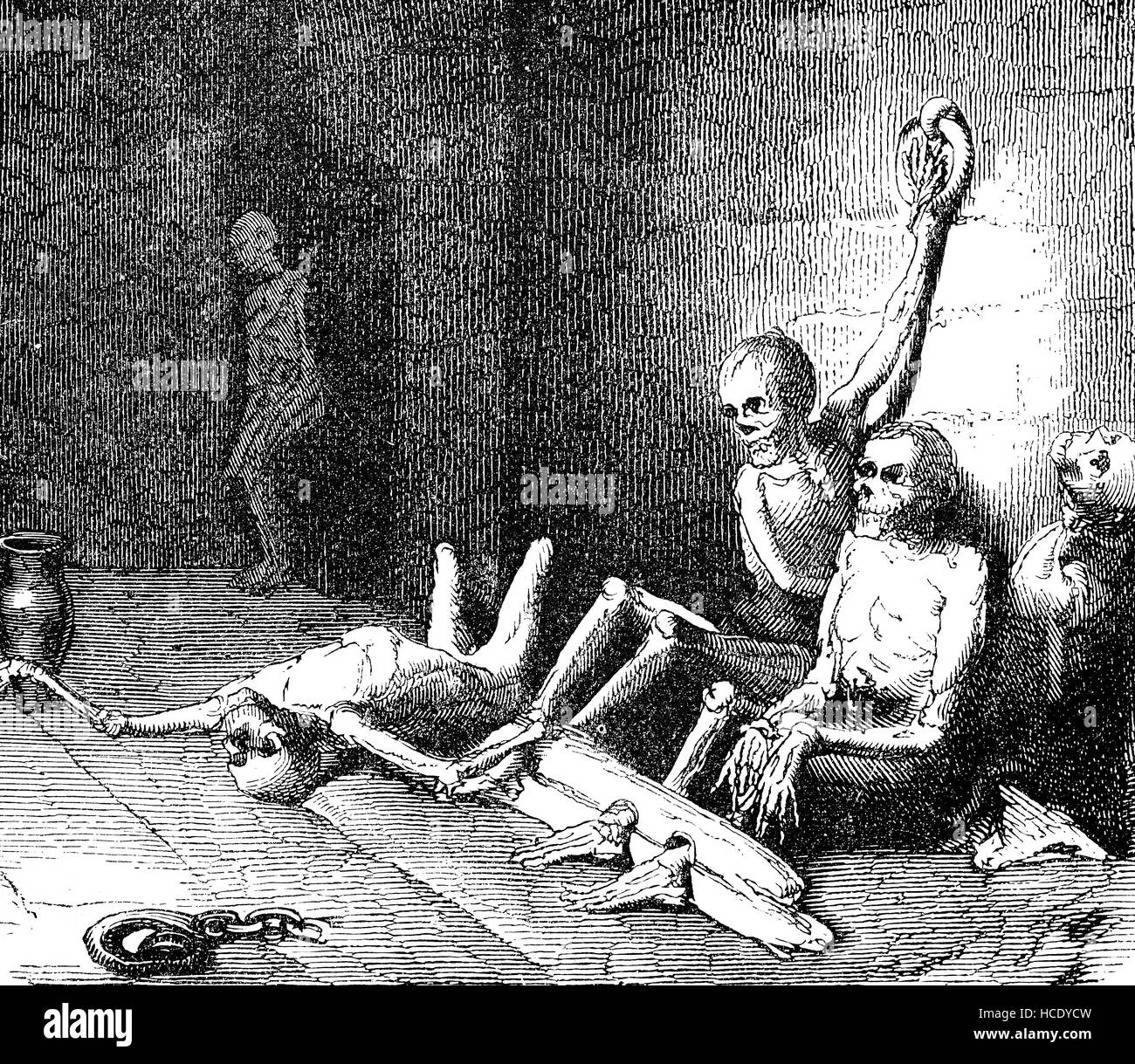 Torture chamber in Rome during the persecution of Christians, the story of the ancient Rome, roman Empire, Italy - Stock Image