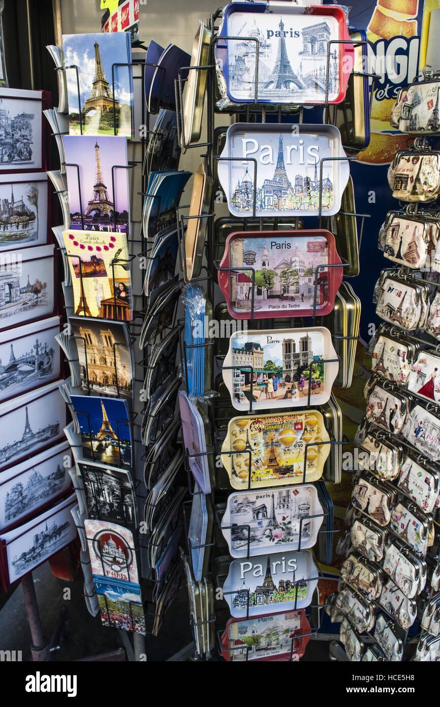 Postcards of Paris - Stock Image