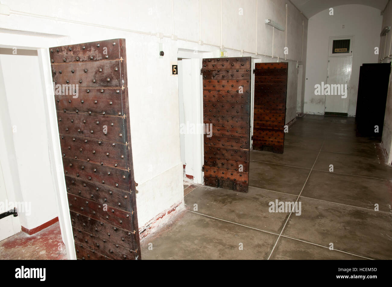 Confined Cells of Fremantle Old Prison - Australia - Stock Image