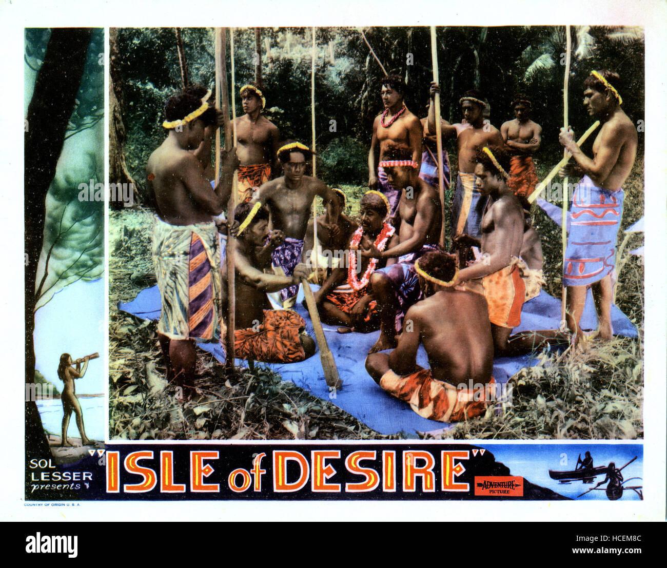 ISLE OF DESIRE, 1930 Stock Photo