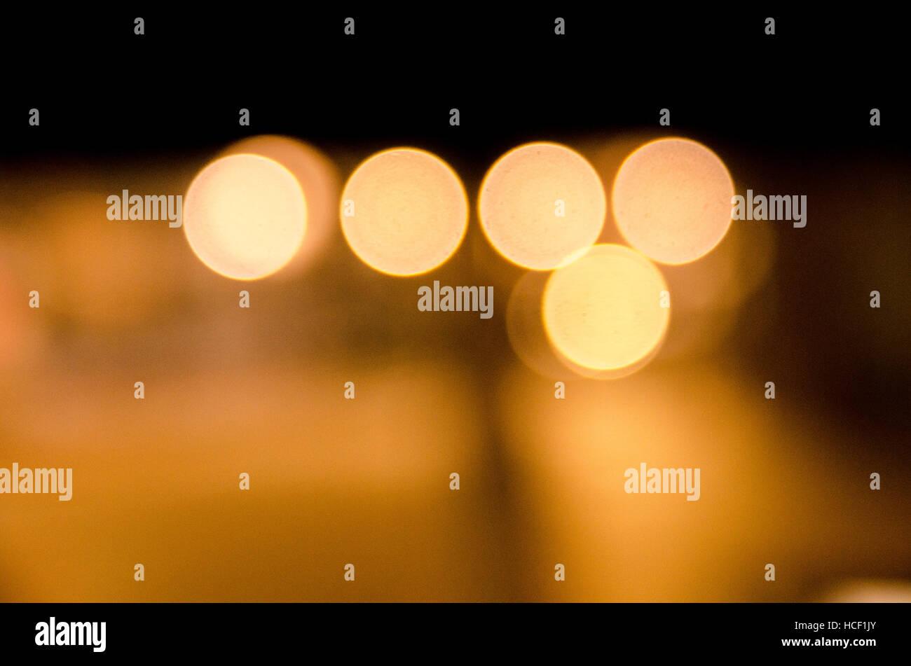 Bokeh lights - Stock Image