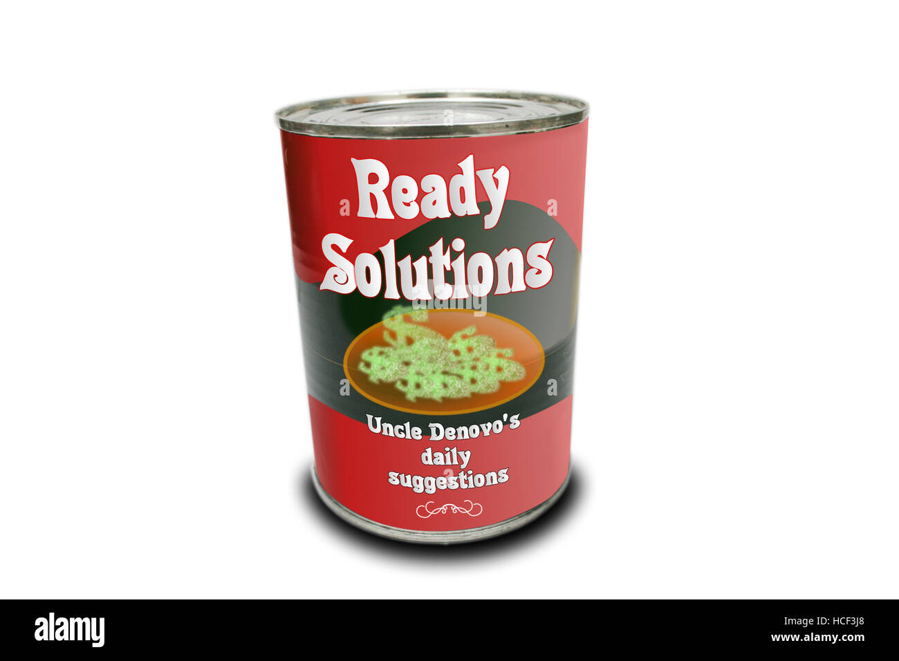 A can full of new solutions and ideas - Stock Image