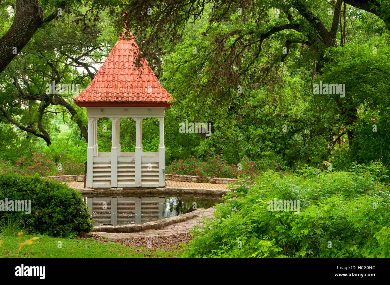 Bickler Cupola, Zilker Botanical Garden, Austin, Texas Stock Photo