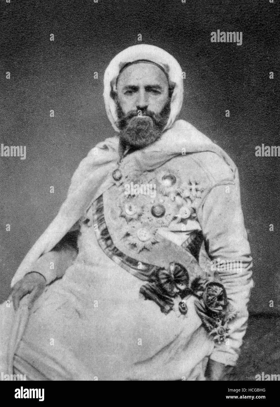 Portrait of Abd-el-Kader, Emir of Algeria - 1875 Stock Photo - Alamy