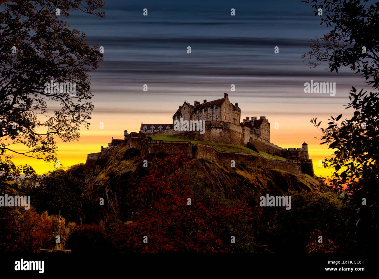Edinburgh Skyline - Stock Image