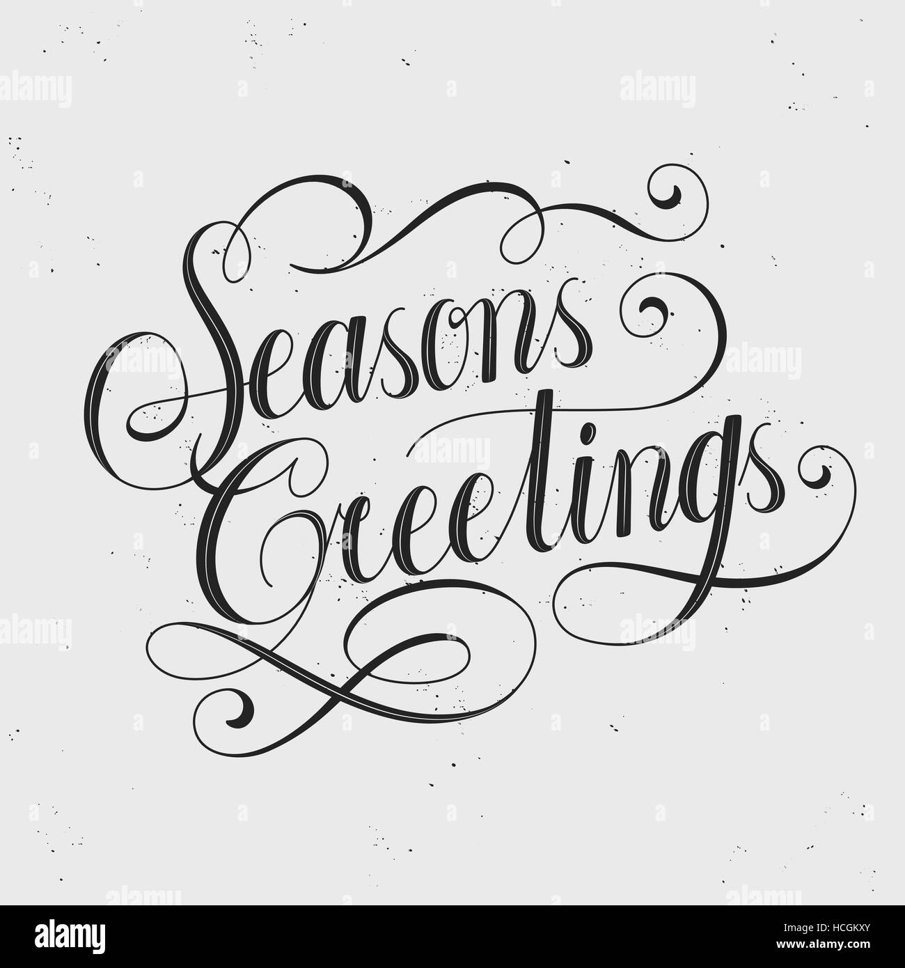 Retro seasons greetings calligraphy with decorative line stock retro seasons greetings calligraphy with decorative line m4hsunfo
