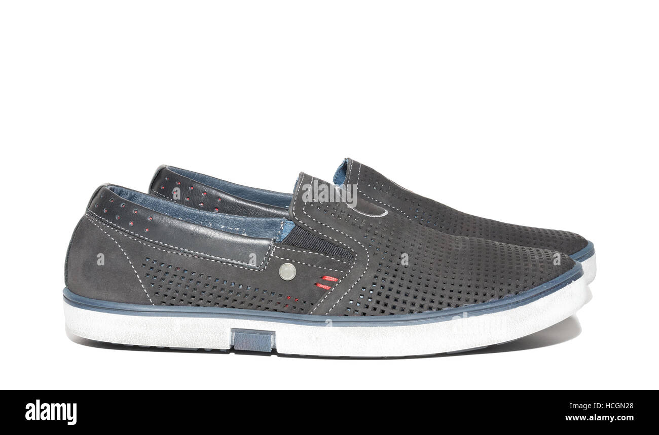 The photo shows men's running shoes Stock Photo