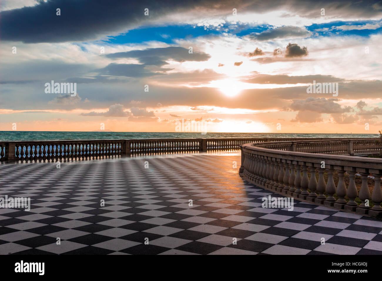 Terrazza Mascagni a Livorno at sunset Stock Photo: 128220446 - Alamy