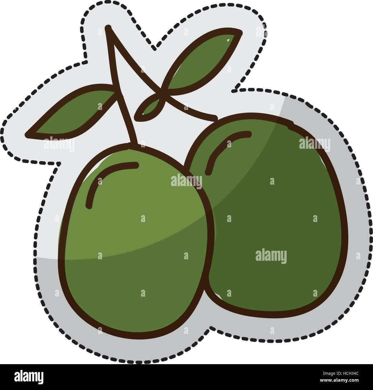olive plant isolated icon vector illustration design - Stock Vector