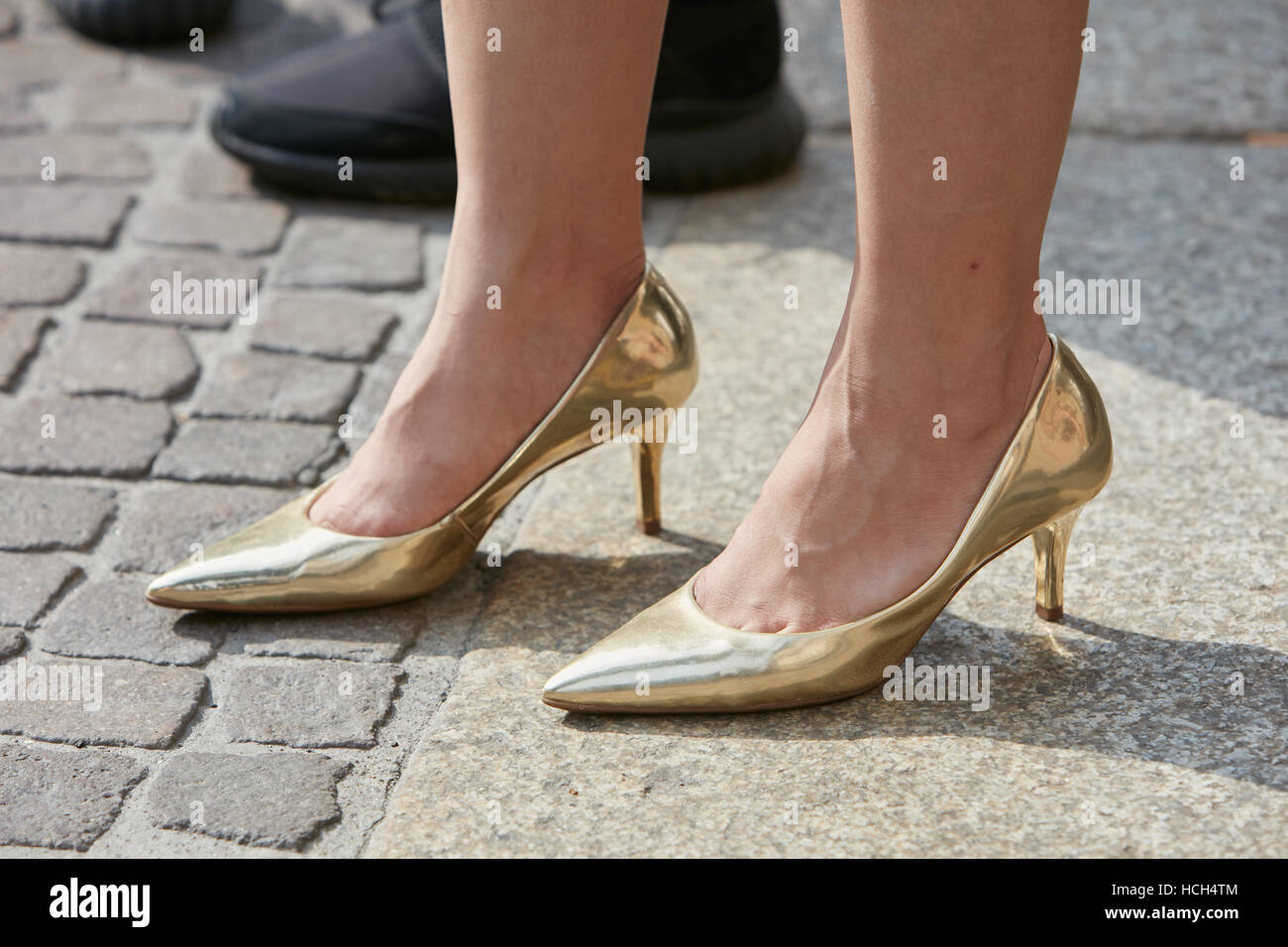 6f28e4aa2d3 Stylish Gold Shoes Stock Photos   Stylish Gold Shoes Stock Images ...