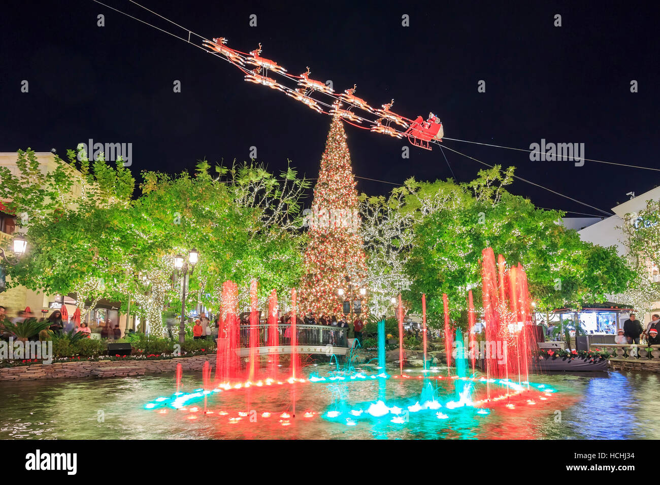 DEC 12, Los Angeles: Christmas at the shopping mall - The Grove on The Grove Los Angeles Snow on the grove madewell, the grove mall, the grove santa, the grove in la, the grove of anaheim,