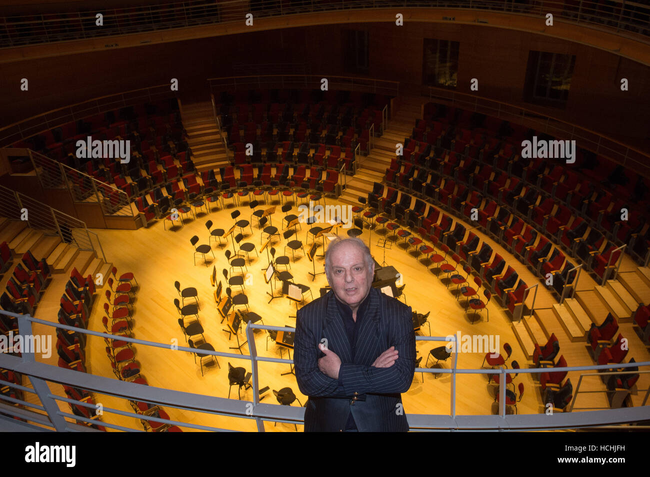 Berlin, Germany. 08th Dec, 2016. The conductor Daniel Barenboim in the Barenboim-Said Academy's Pierre Boulez - Stock Image