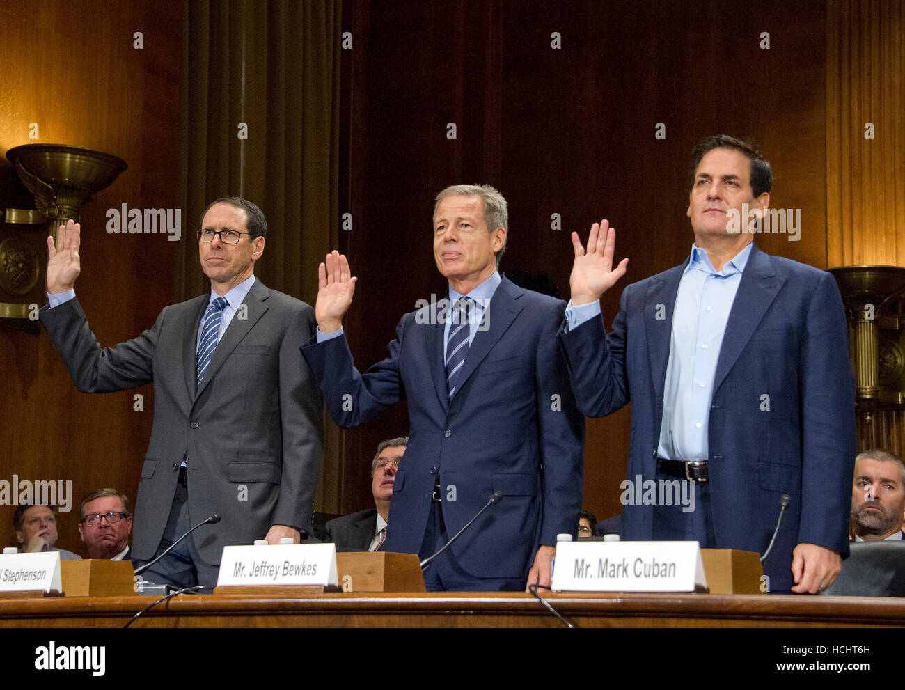 from left to right randall stephenson chairman chief executive
