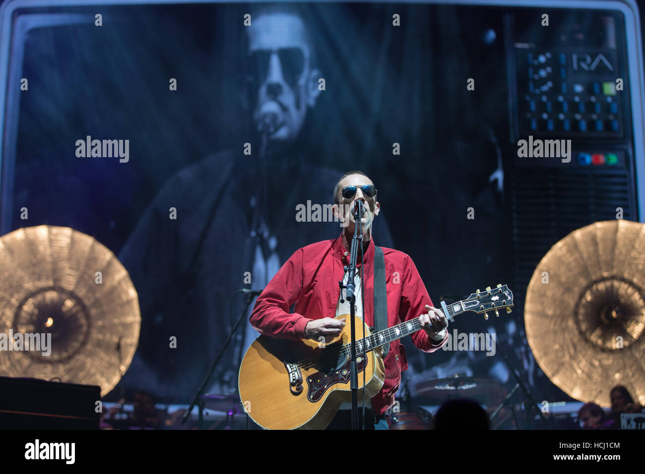 London, England, UK. 9th December 2016, Richard Ashcroft performs These People tour  at the O2 Arena, England.© Stock Photo