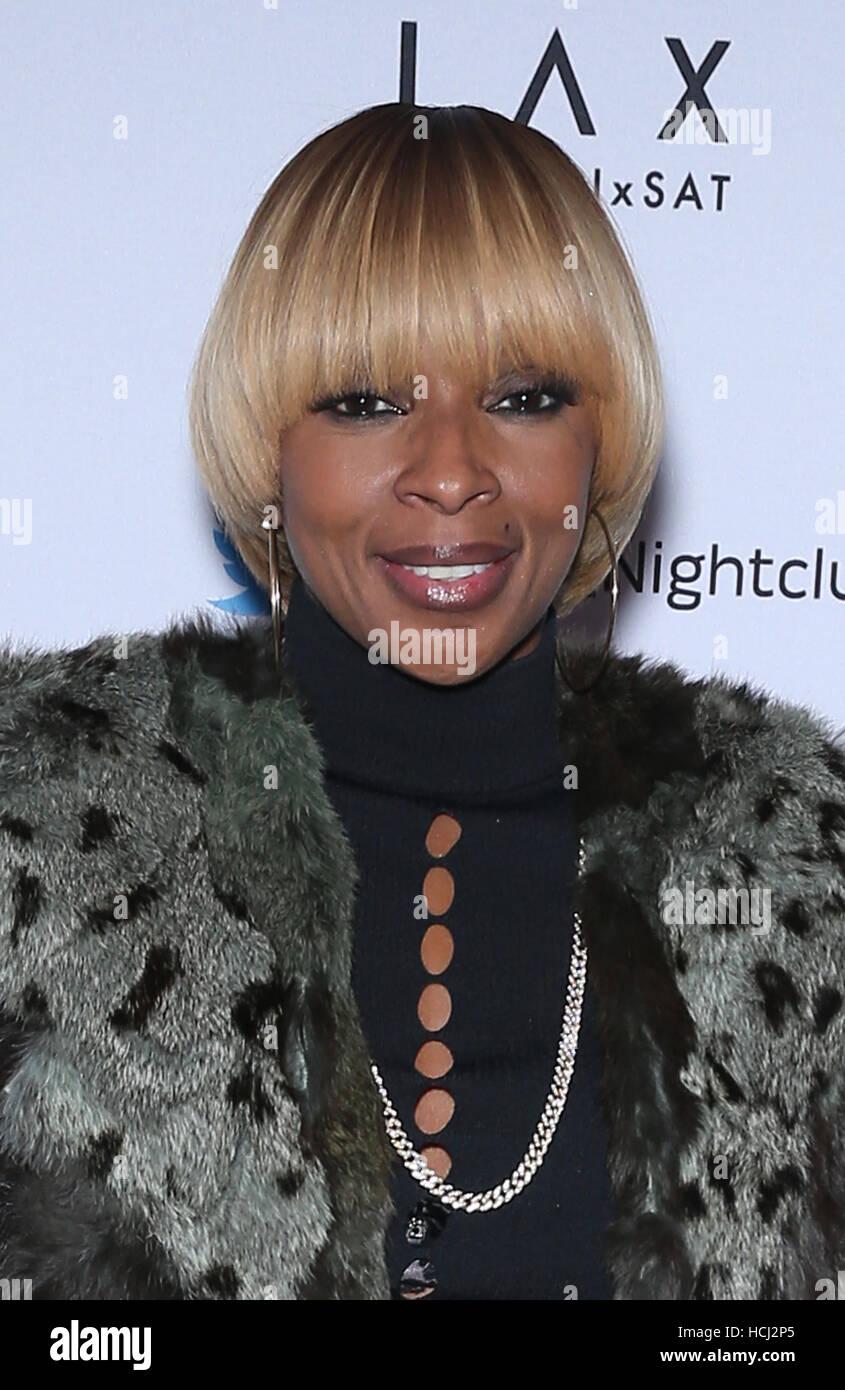 Las Vegas, NV, USA. 9th Dec, 2016. 09 December 2016 - Las Vegas, NV - Mary J Blige. LAX Nightclub at Luxor Welcomes - Stock Image